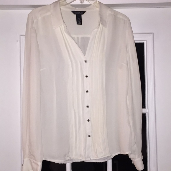 5990f5b434f981 Cream colored silk blouse. M 5a76691ec9fcdffb313371e8